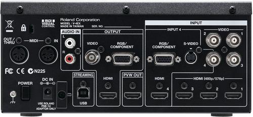 roland v-4ex mezclador de 4 canales hdmi