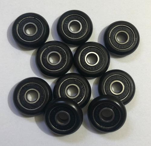 roldana 30mm com rolamento 608 2rs kit 100 peças