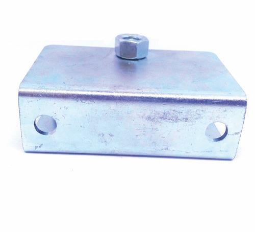 roldana com caixa para portão 3 polegadas canal u