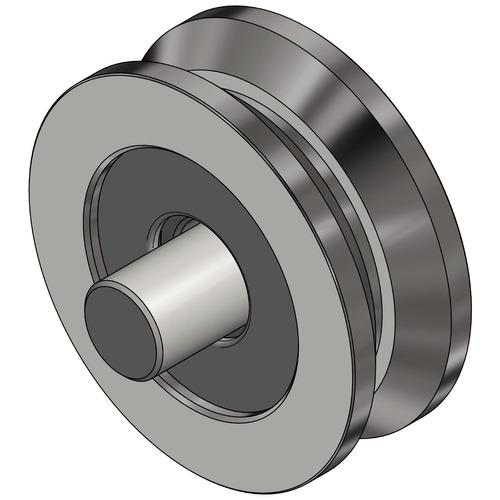 roldana para portão v com rolamento e pino 38 mm 1.1/2 pol