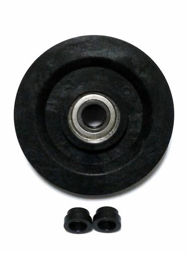 roldana polia 113mm c/ rol. inj. p/ equip  aparelho fitness#