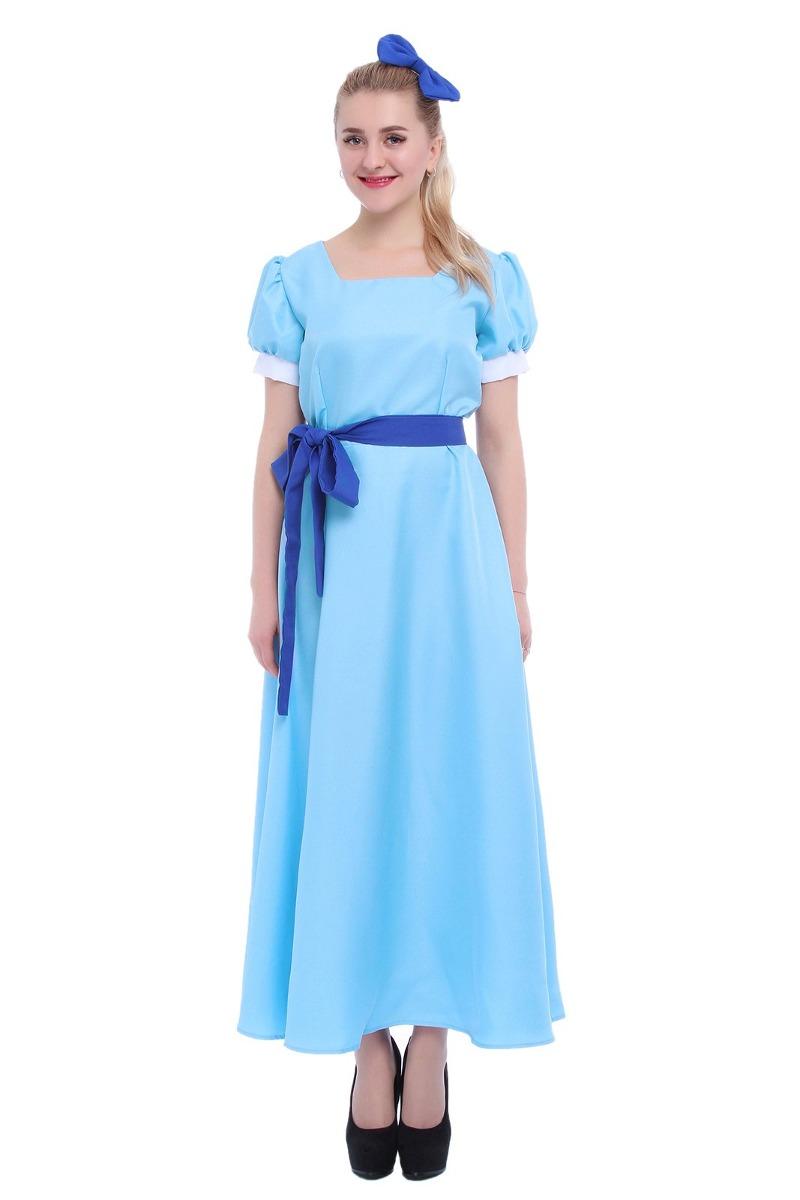 Vestido azul de mujer