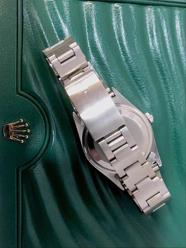 rolex date 34mm , aço , safira , impecável !