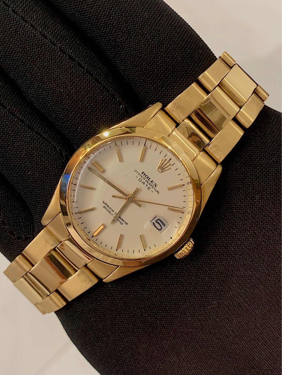 b7f3c3917bb Rolex Date 34mm Todo Ouro Amarelo 18k