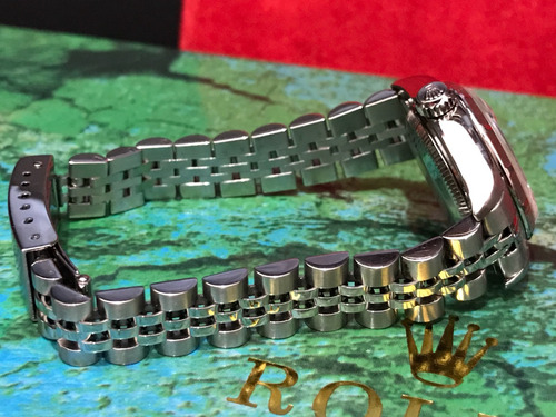 rolex date acero automatico dama bellisimo num romanos oro