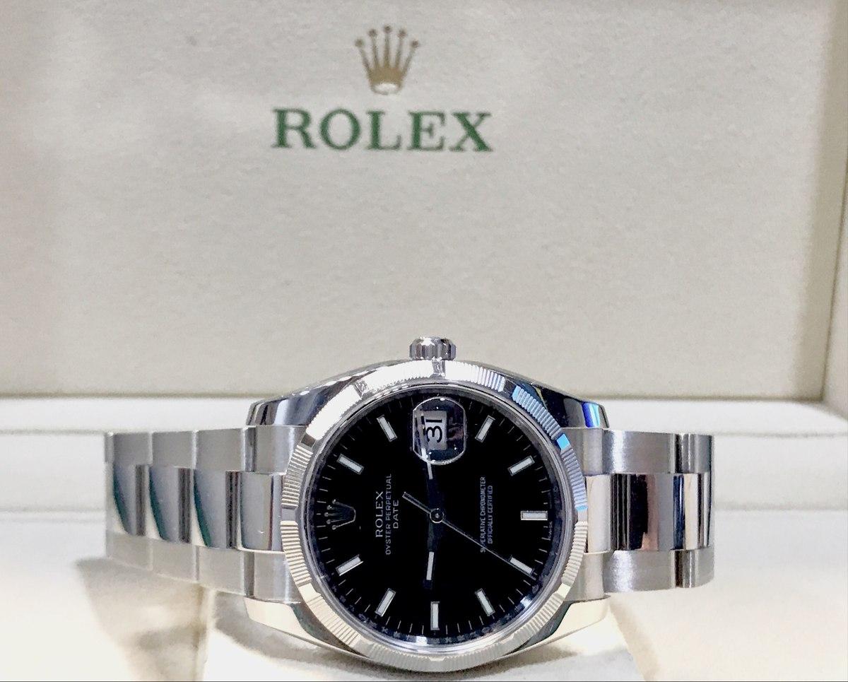 c5e013ea96f Rolex Date Aço Modelo Novo