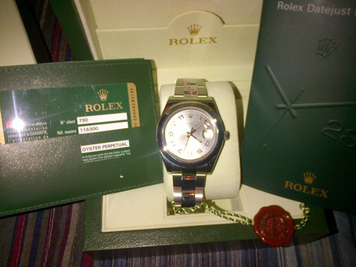 rolex date just ii 41mm modelo 2012