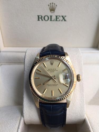 rolex date  vintage, años 70, oro 14k ¡ de coleccion ¡