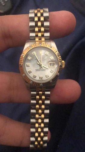 rolex datejust 179313 dama oro 18k , diamante 2005