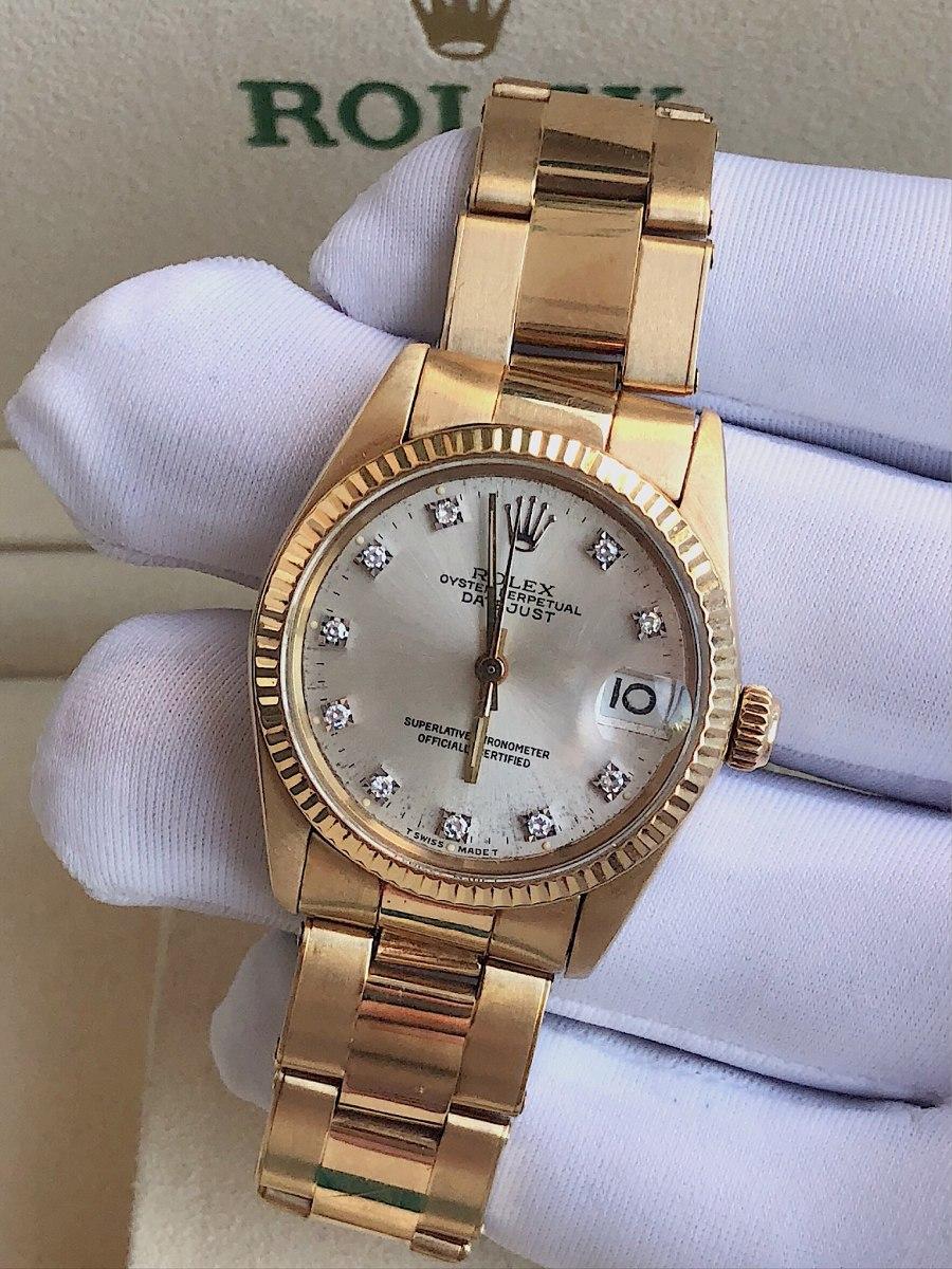 5a3edb40413 rolex datejust 31mm todo de ouro amarelo com diamantes!!! Carregando zoom.