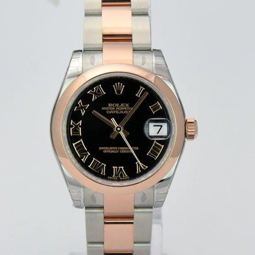 rolex datejust oyster, 31 mm, acero oystersteel y oro rose