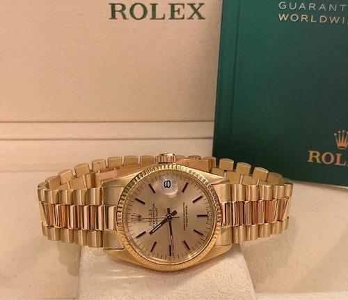 rolex datejust president todo de ouro , mid size , impecsvel