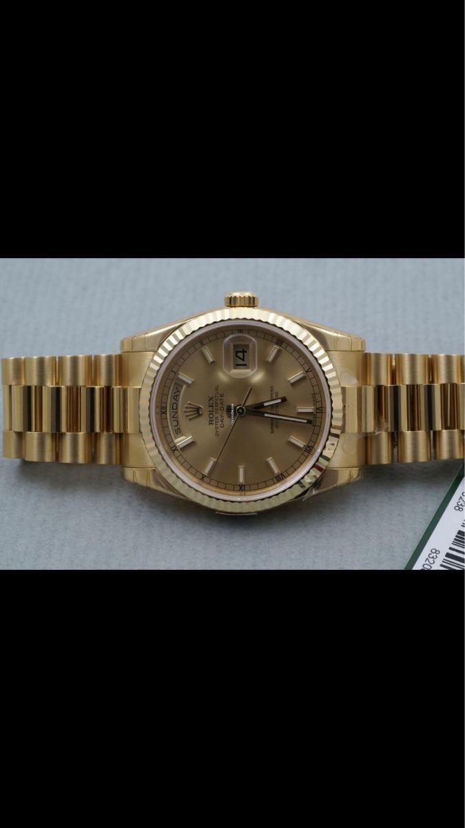 287bc397f56 Rolex Day-date Pulseira Presidente 36mm Vendo Ou Troco - R  60.000 ...