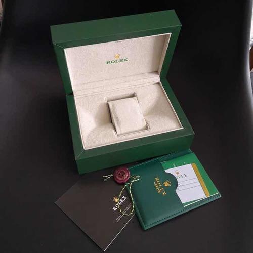 rolex daytona cravejado dourado com caixa e documentos