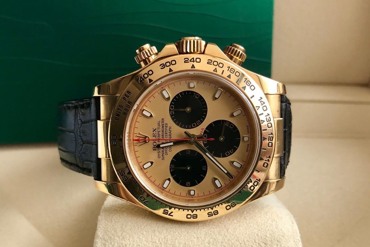 d74002a061e Rolex Daytona De Ouro Amarelo couro 2006. Impecável. - R  65.000