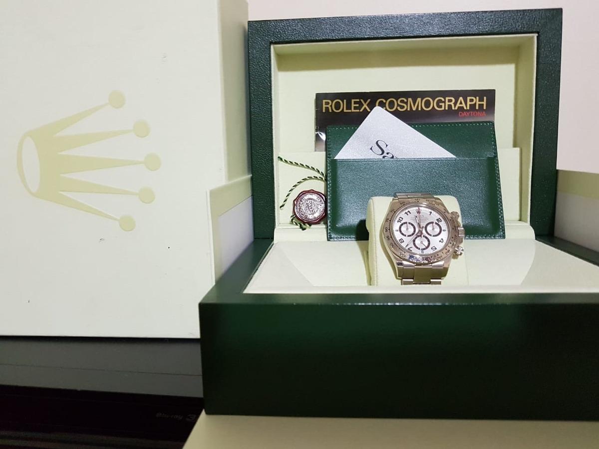 24e72c3dfd0 Rolex Daytona Ouro Branco Trocas - R  95.000