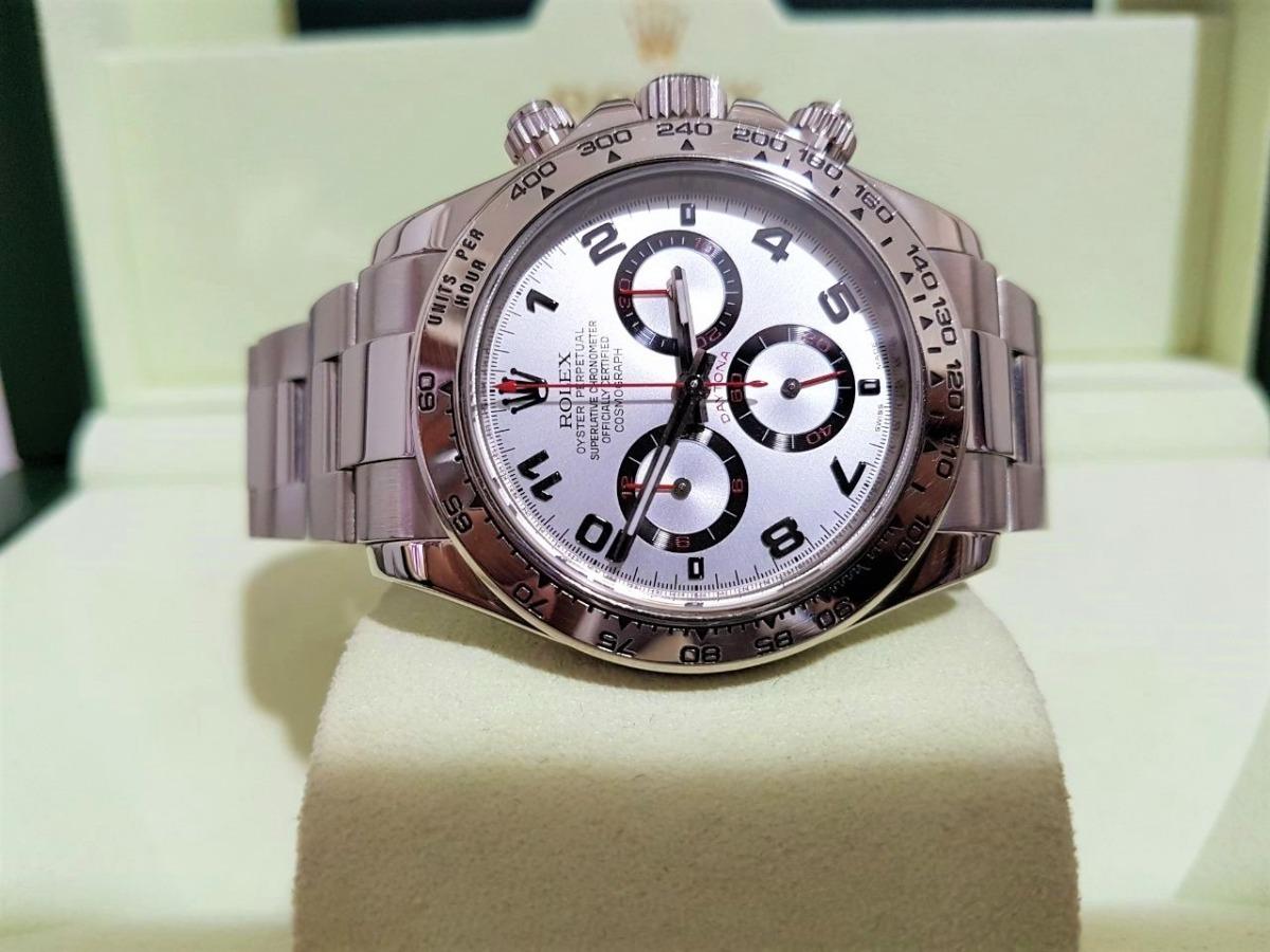 6bc6c098166 Rolex Daytona Ouro Branco Trocas - R  95.000