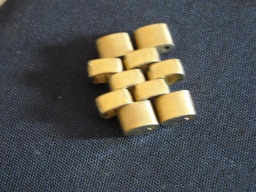 rolex eslabones malla  jubilee oro 14 kilates $ x unidad