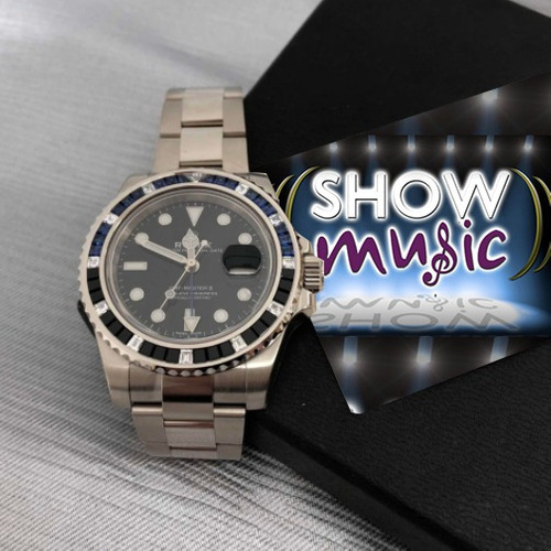 rolex gmt-master ii 18k white gold black automatic