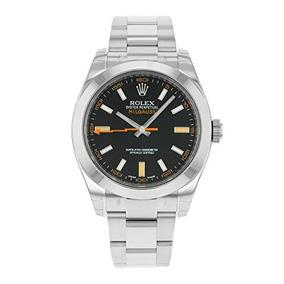 Reloj Inoxidable Rolex Para Dial Milgauss Blue Acero oxrdCBe