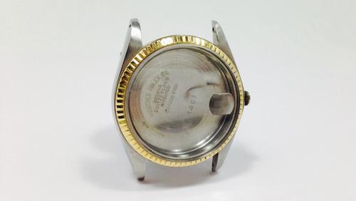 rolex original oro/acero caja/tapa/bisel/cristal (inv 1002)