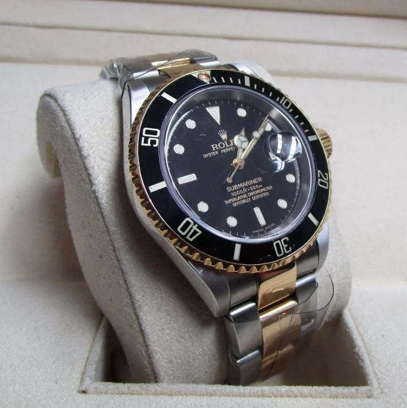 51db63af39b Rolex Relógio Submariner Prata Com Dourado Masculino 48mm - R  129 ...