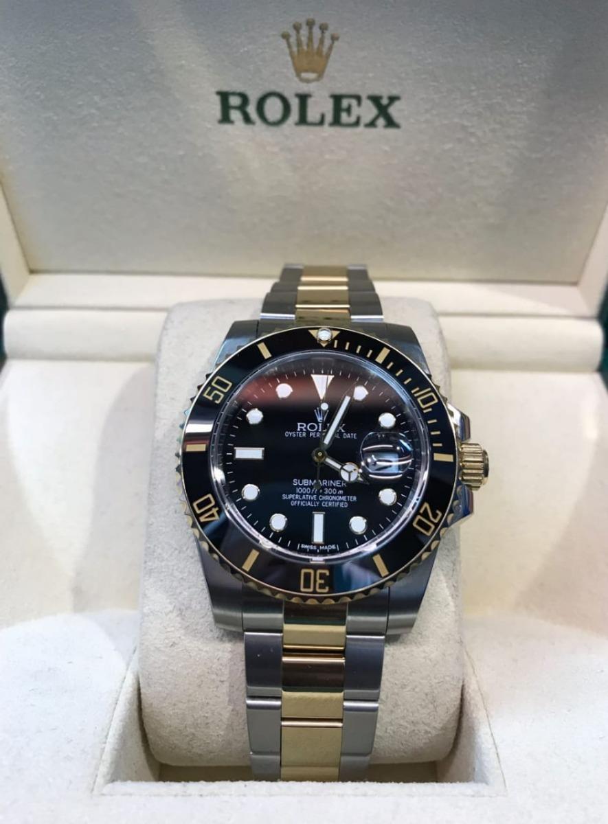 8ee5bce7d1c Rolex Submarine Preto E Dourado Original Garantia E Barato - R  555 ...
