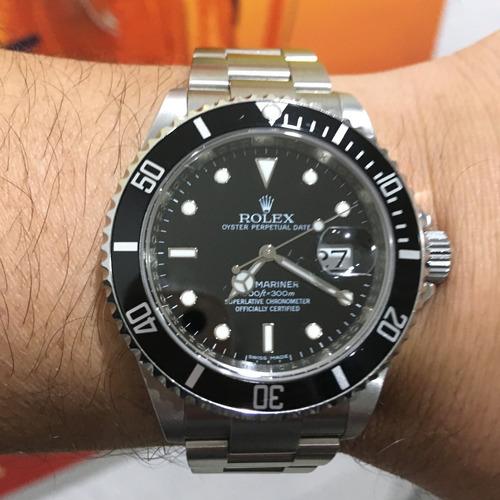 rolex submariner date 100% original certificado caixa manual
