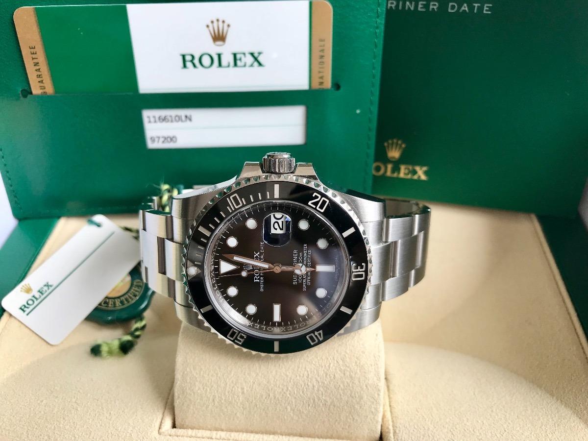 bed4fbabe2c Rolex Submariner De Aço Ceramica 2016. Completo E Impecável. - R ...