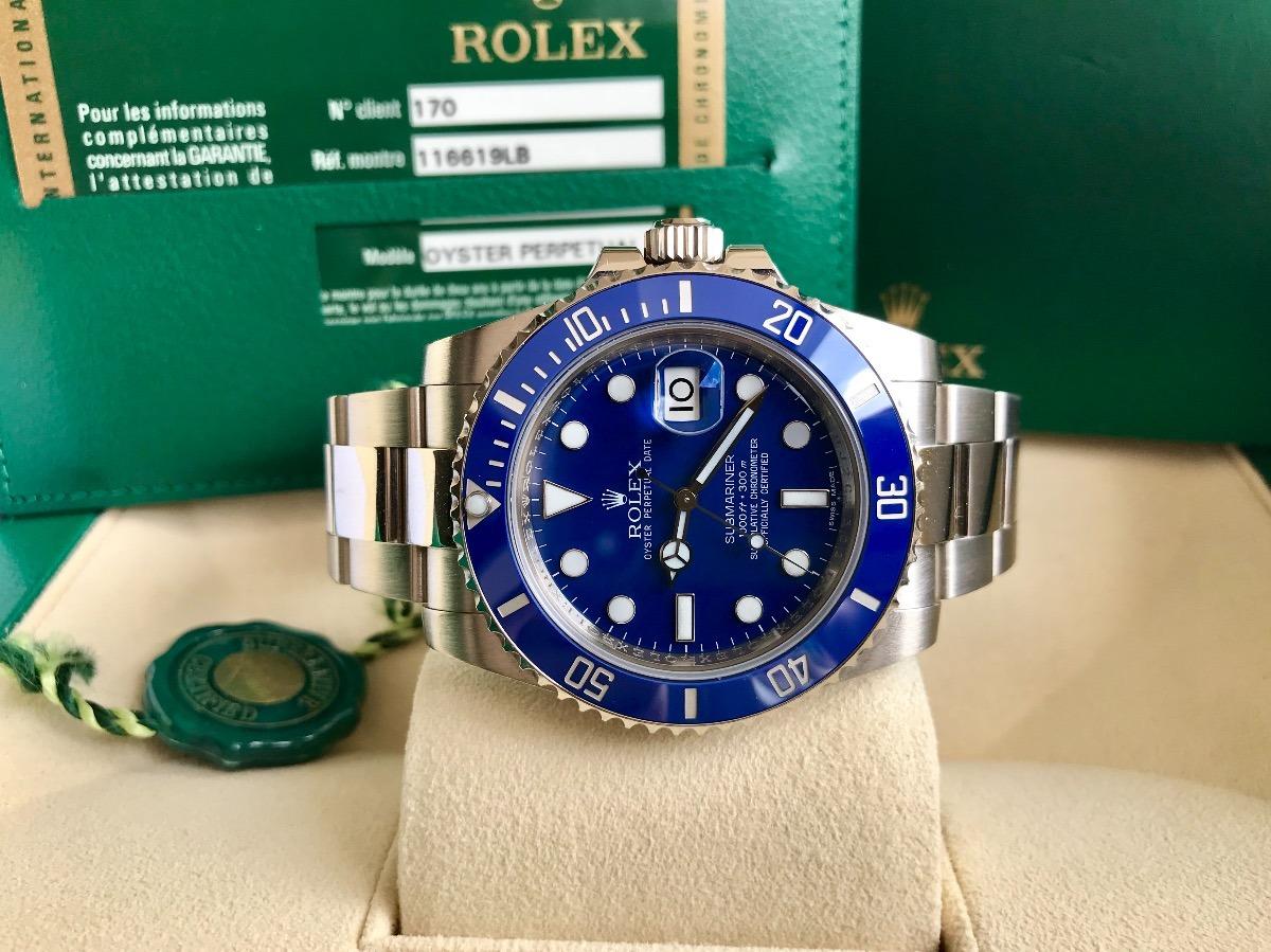 6f8b408ee83 Rolex Submariner Ouro Branco 2014. Completo E Impecável. - R ...