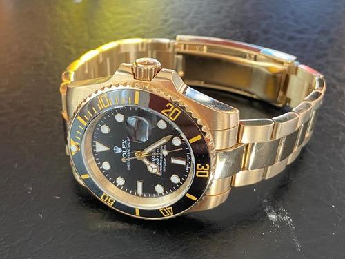 rolex submariner todo oro!