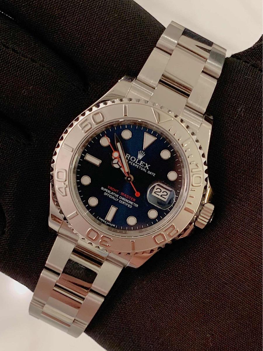 76971aa5ee3 Rolex Yacht-master Aço   Platina