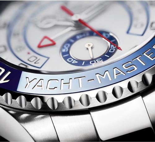 rolex yacht-master ii 44mm aço 2018 completo ymii ym2 116680
