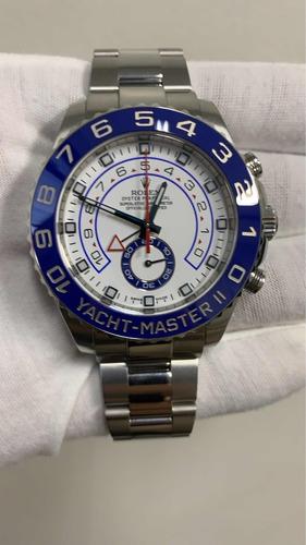 rolex yacht-master ii 44mm aço completo ymii ym2 116680