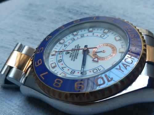 rolex yacht master  ll  marino dos tonos laminado de 18kl