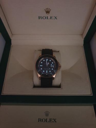 rolex yacht master, rosê base eta swiss 2840 com caixa