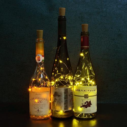 rolha com fio luz de fada led para garrafas