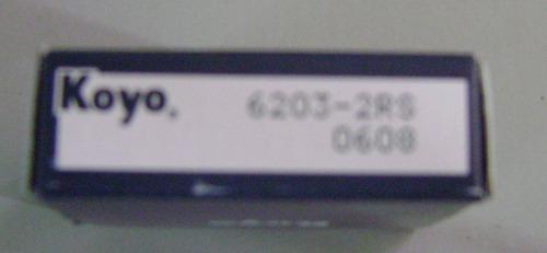 rolinera o rodamiento 6203 2rs koyo  5 pzas
