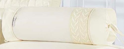 rolinho avulso micenas cor palha - perfeito para sua cama