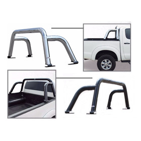 Roll Bar Porteria Sport Toyota Hilux 2006-2019 Cromo O Negro