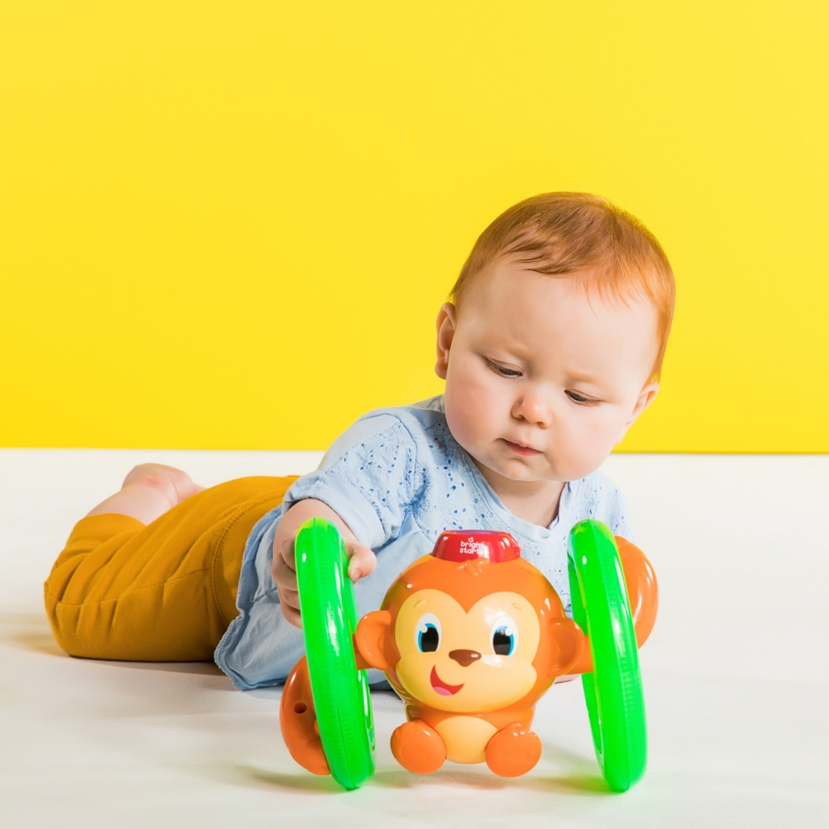 Bright Starts Roll /& Glow Monkey Toy