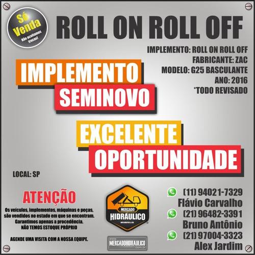 roll on roll off - zac g25 basculante / 2016
