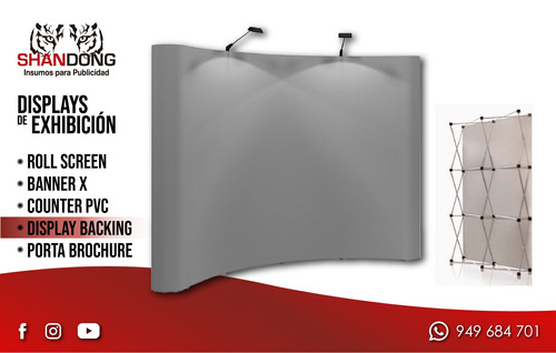 roll screen, parante, banner x, counter pvc, display backing