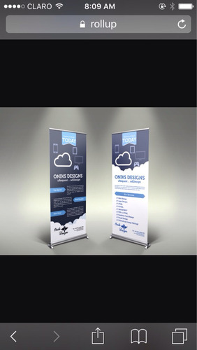roll up baner medidas 2.00 x 0.80 metros