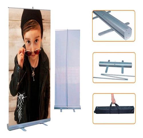 roll up porta + banner impreso 200x85 ploteos gigantografías