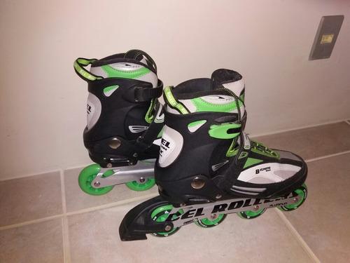 roller bxtreme 5000 tamanho 42 verde  (usado) - bel rollers