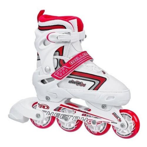 roller derby de la muchacha guepardo s4  patines en linea aj