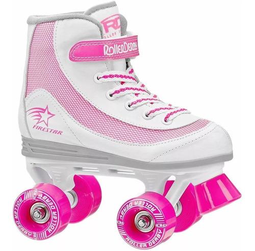 roller derby firestar patines niñas 4 ruedas talla us 4
