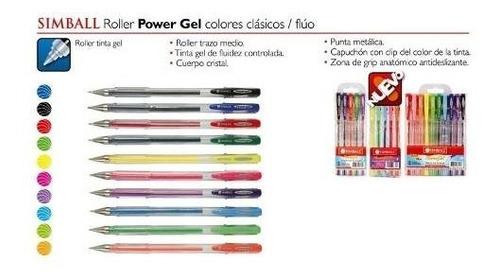 roller gel glitter micro simball x 10
