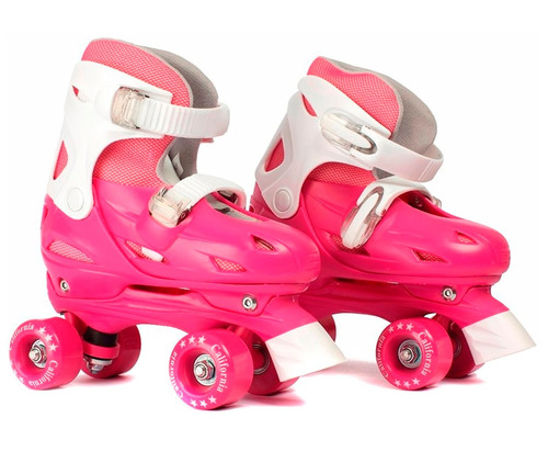 roller patin ajustable talle 33 a 36 rosa excelente calidad